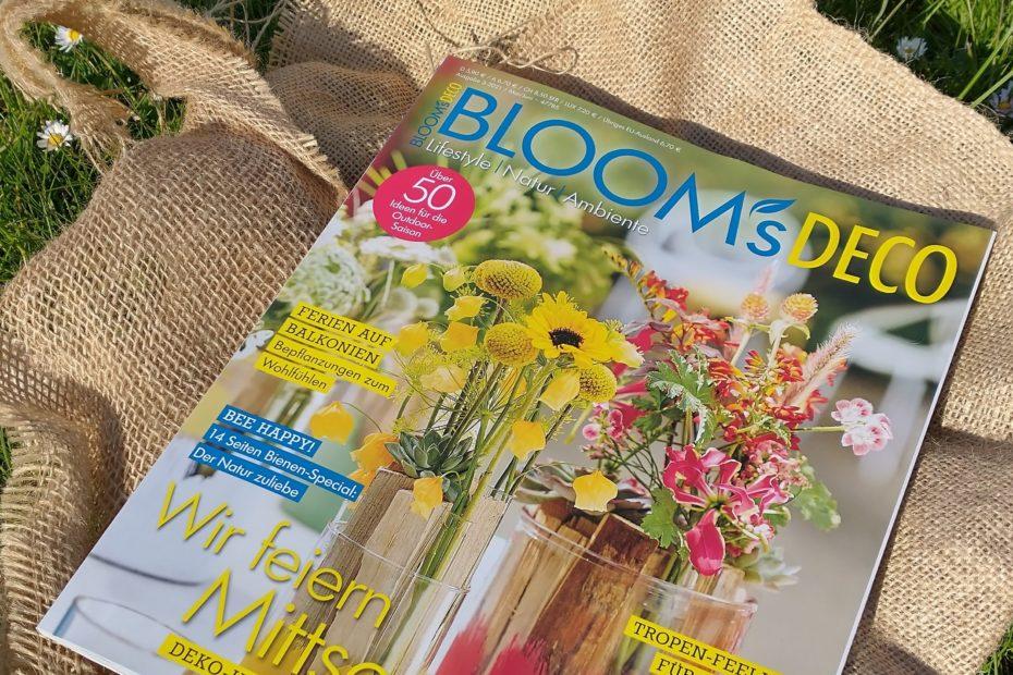 Blooms Deco mit 15 Seiten Bienenspezial und uns im Experteninterview!